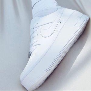 Nike Air Force 1 Sage Low Platform Shoes 8.5